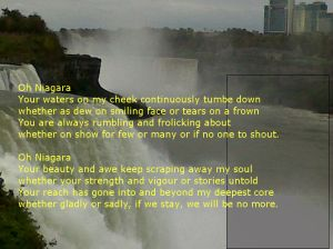 The love affair that results in the love's demise. Erosion of land has been a concern at the Niagara Falls