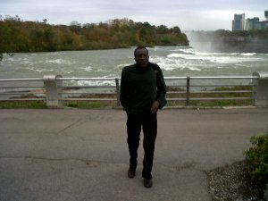 Notclif at Niagara Falls October 2011. The setting for his poem: