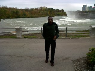 "Notclif at Niagara Falls October 2011. The setting for his poem: ""Oh Niagara"""