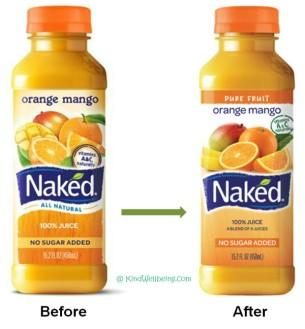 Naked juice label