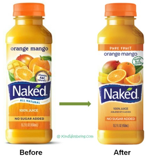 Naked juice label