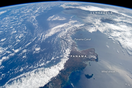Image result for Central America from the International Space Station