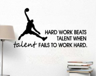 poster hard work beats