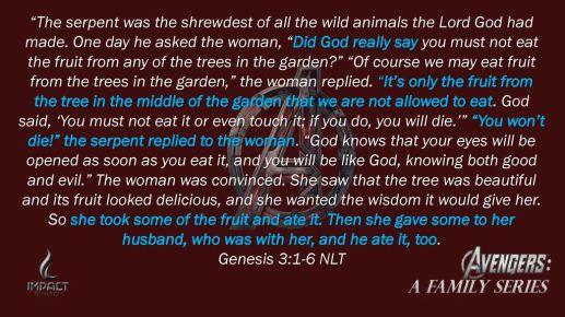 Genesis 3:1-6 NLT.